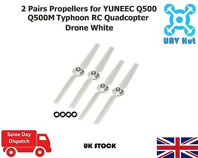 2 Pairs Propellers For YUNEEC Q500 Q500M Typhoon RC Quadcopter Drone White • 7.99£