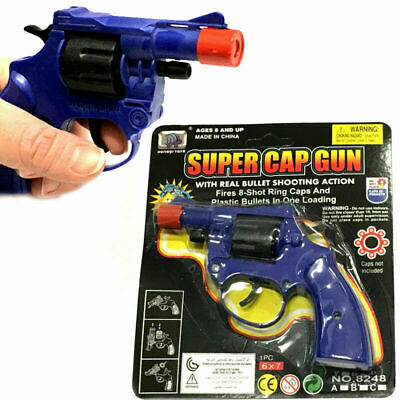 Super Cap Gun Traditional 8 Shot Boys Toy Present Gift Birthday Party Bag Filler • 4.99£