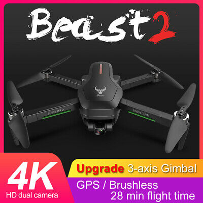 Drone X Beast SG906 PRO 2 WIFI FPV 4K HD Camera 3 Batteries Selfie RC Quadcopter • 167.99£