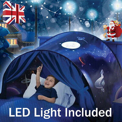 Dream Tents Kid Foldable Tent Pop Up Indoor Bed House Gift With Tents Light UK • 13.99£