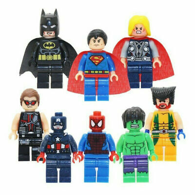 8pcs Kid Toys Lego Marvel Avengers Super Hero Mini Figures Hulk Batman Series  • 2.99£