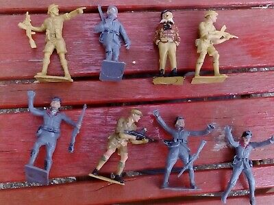 Vintage Toy Soldiers Cherilea Toys German And English Made In England 1/32 • 8£