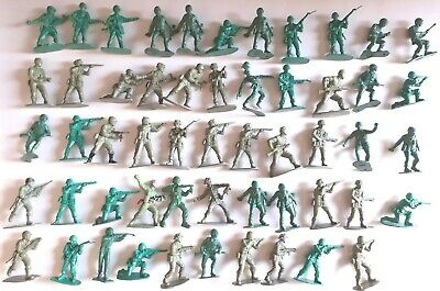 Job Lot Bundle Vintage Plastic Toy Soldiers X54 Collection War  • 9.99£