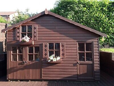 Childrens Wooden Playhouse Used • 104£