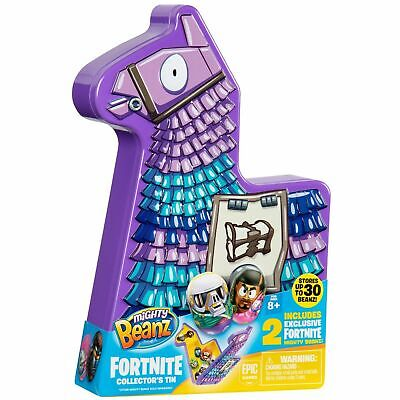 Fortnite Mighty Beanz Loot Llama Collectors Tin Inc 2 Exclusive Mighty Beanz • 4.99£