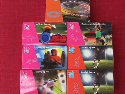 Corgi London 2012 Olympic Figurine Collection X 7 Excellent Boxed • 60£