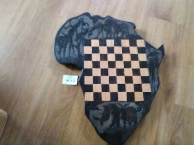 Handmade African Carved Wooden Chess Board  • 22£
