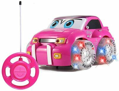 Kids Girls Pink Purple Remote Control Car With Light And Music Christmas Present • 15.99£