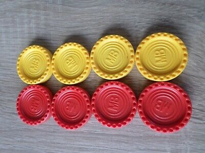 Vintage Mb Games Connect 4 Spare Replacement Red & Yellow Counters • 2£