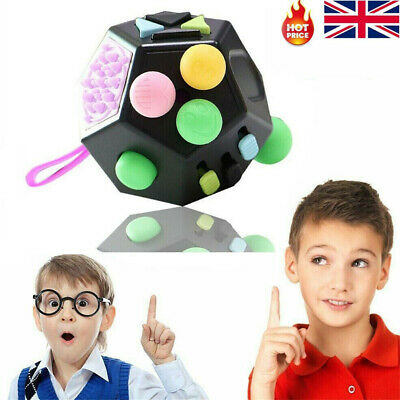 12-Sided Fidget Cube Spinner Desk Toy Children Anxiety Adult Stress Relief Cubes • 7.95£