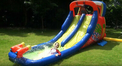Bouncy Castle Inflatable Castle Water Park Kids 20ft Double Water Slide  • 499£