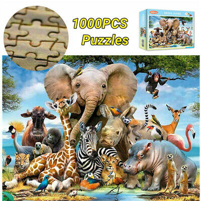 1000 Piece Animal World Jigsaw Puzzles Adult Kids Educational Puzzle Gift • 8.99£