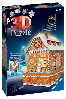 Ravensburger 3D Puzzle - GingerBread House Night Edition • 24.99£