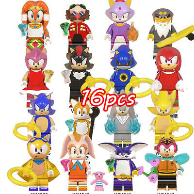 16Pcs Sonic The Hedgehog Minifigure Fit Lego Kids Toy Collection Birthday Gift • 15£