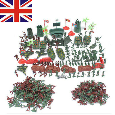 290pc Army Base Playset Men Sand Scene Tank Soldier Model Action Figures Kid Toy • 11.99£