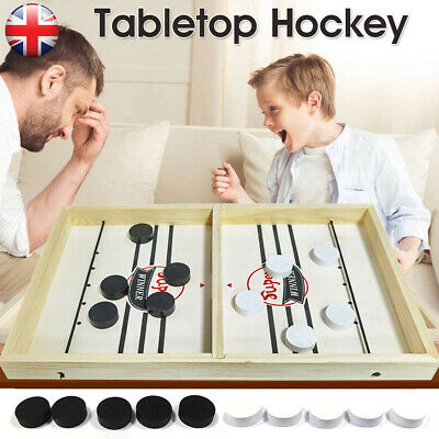 Wooden Hockey Game Table Game Family Fun Game For Kids Children 100% NEW • 11.98£
