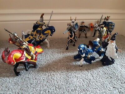 Papo Knights And Horses And Mixed Figures Bundle With Wizard • 8.50£