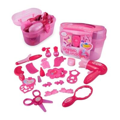 Toddler Baby Girl Cosmetic Hairdressing Game Pretend Play Toy Set Makeup Tool UK • 8.95£