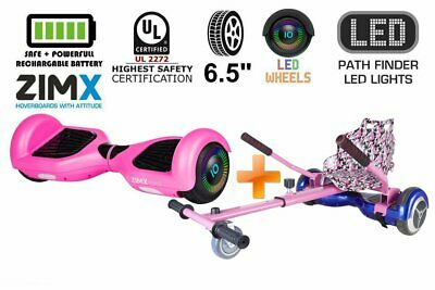 Pink Hoverboard With LED Wheels + Hoverkart HK4 UL2272 Certified • 184.99£