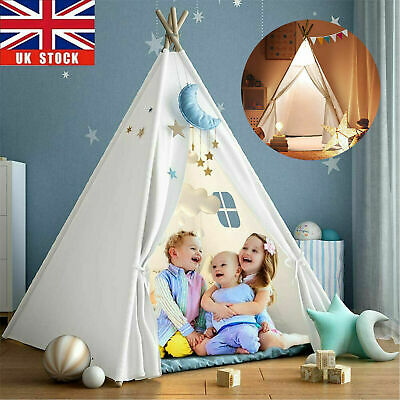 Large Canvas Children  Kids Indian Tent Teepee Wigwam Indoor Outdoor Play House • 17.98£