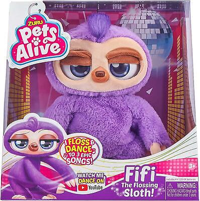 Zuru Fifi The Flossing Sloth Pets Alive Kids Toy Gift • 22.96£