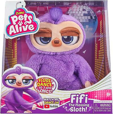 Zuru Fifi The Flossing Sloth Pets Alive Kids Toy Gift • 23.92£