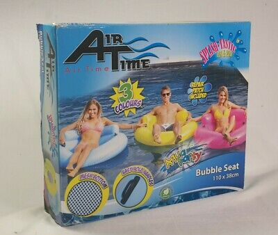 Air Time Inflatable Aqua Party Bubble Seat Pink Pool Party 110x38cm • 18.69£