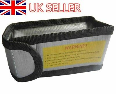 LiPo Guard Battery Charging Safe Protection Explosion-Proof Bag 125x64x50mm UK • 2.99£