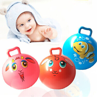 25cm Space Hopper Ball Inflatable Bounce Balls With Handle For Kids Boy Girl UK • 4.96£