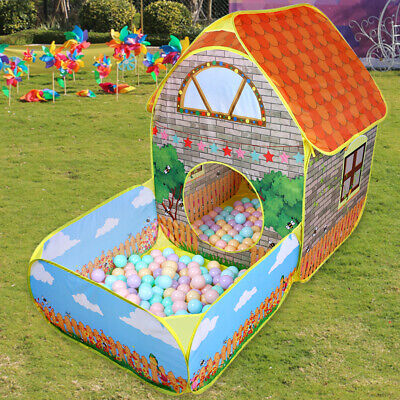 Kids Pop Up Play Tent Baby Tunnel Ball Pit Toddlers Playhouse Indoor Outdoor • 22.79£