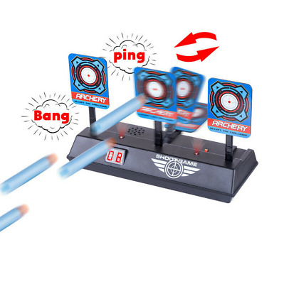 Electric Scoring Reset Digital Shooting Target For Nerf Toy Gun Game Sets Kids • 9.69£