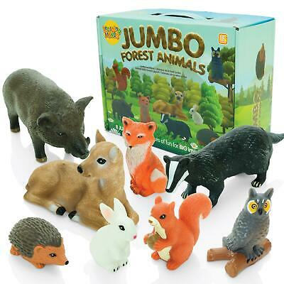 Learning Minds Set Of 8 Jumbo Forest Animal Figures - For Children Aged 18m+ • 14.99£