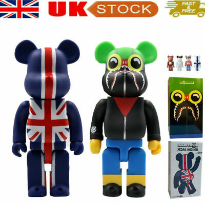 PVC Camouflage Bear Toy BAPE British Flag Action Figure Christmas Gift • 38.99£