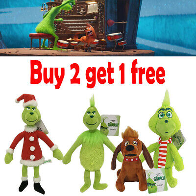 Dr Seuss How The Grinch Stole Christmas Plush Doll Kids Stuffed Toy Xmas Gift • 6.99£