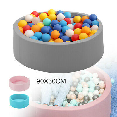200 Soft Balls Pit For Baby Ball Pool+Pad Round 90x30cm Toddler Foam UK • 33.99£