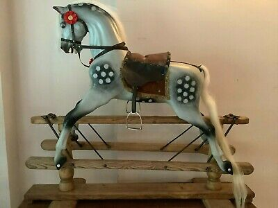 Antique Lines/JR Smith ? Rocking Horse , Beautifully Extra Carved. • 1,195£