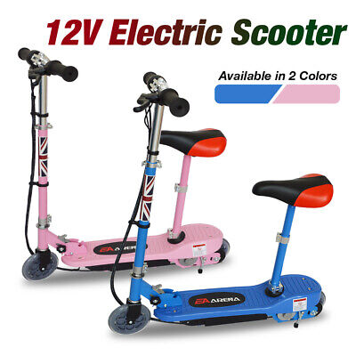 12V Foldable Electric Scooter Kids Ride On E-Scooter With Seat Height Adjustable • 86.99£