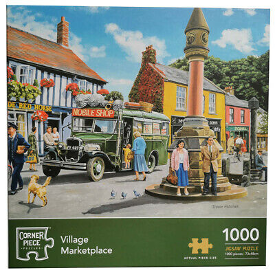 Village Marketplace 1000 Piece Jigsaw Puzzle, Toys & Games, Brand New • 9£