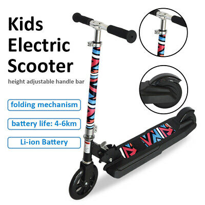 Foldable Electric Scooter Li-ion Battery Kids Ride On E-Scooter Height Adjustabl • 89.99£