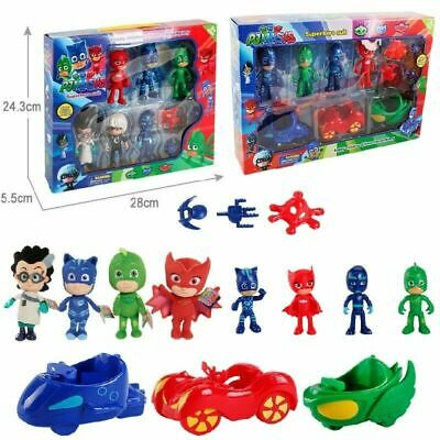 PJ Masks Catboy Owlette Gekko Parking Lot Action Figures WITH BOX Toys Kids Gift • 14.99£
