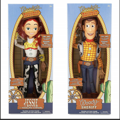 WOODY Jessie Toy Story 3 Pull String Action 16 Inch Pull String Talking Figure • 18.99£