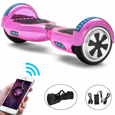 Hoverboard 6.5 Pink Bluetooth Electric Scooters LED Smart Balance Board For Kids • 129£