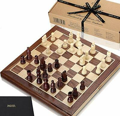 Jaques Of London Chess Set 15 Inch Walnut And Sycamore Inlaid Chess Board • 29.99£