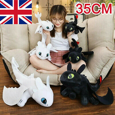 How To Train Your Dragon 3 Toothless Anime Plush Doll Night Light Fury Toy Gifts • 7.99£