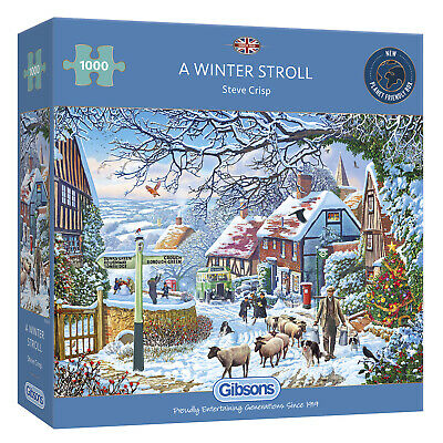 Gibsons A Winter Stroll 1000pc Puzzle G6250 • 14.99£