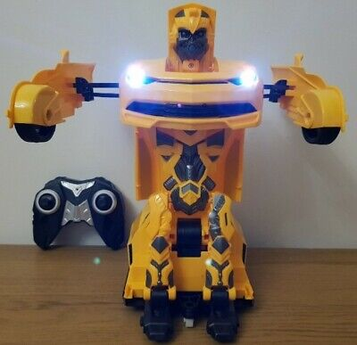 LARGE BUMBLEBEE TRANSFORMERS ROBOT SENSOR RECHARGEABLE Remote Control Car  1:12 • 26.99£