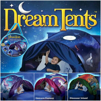 Dream Tents Kid Unicorn Foldable Tent Pop Up Indoor Bed House Gift  +Tents Light • 13.99£