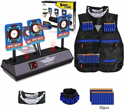 Electronic Digital Target, Kids Tactical Vest For Nerf Gun N-Strike Elite Series • 23.98£