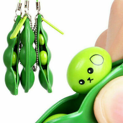 Squeeze-a-Bean Anti-Anxiety Fidget Stress Relief For ADHD Keyring Pendant Toy • 2.85£
