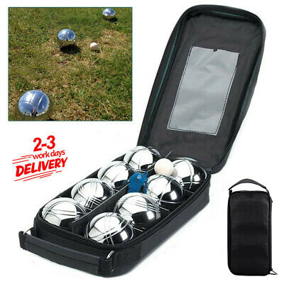 6 French Ball Stainless Steel Boules Set Petanque Outdoor Carry Case Garden Game • 17.98£